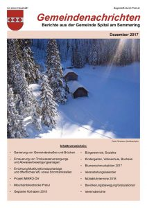 Gemeindezeitung Dezember 2017